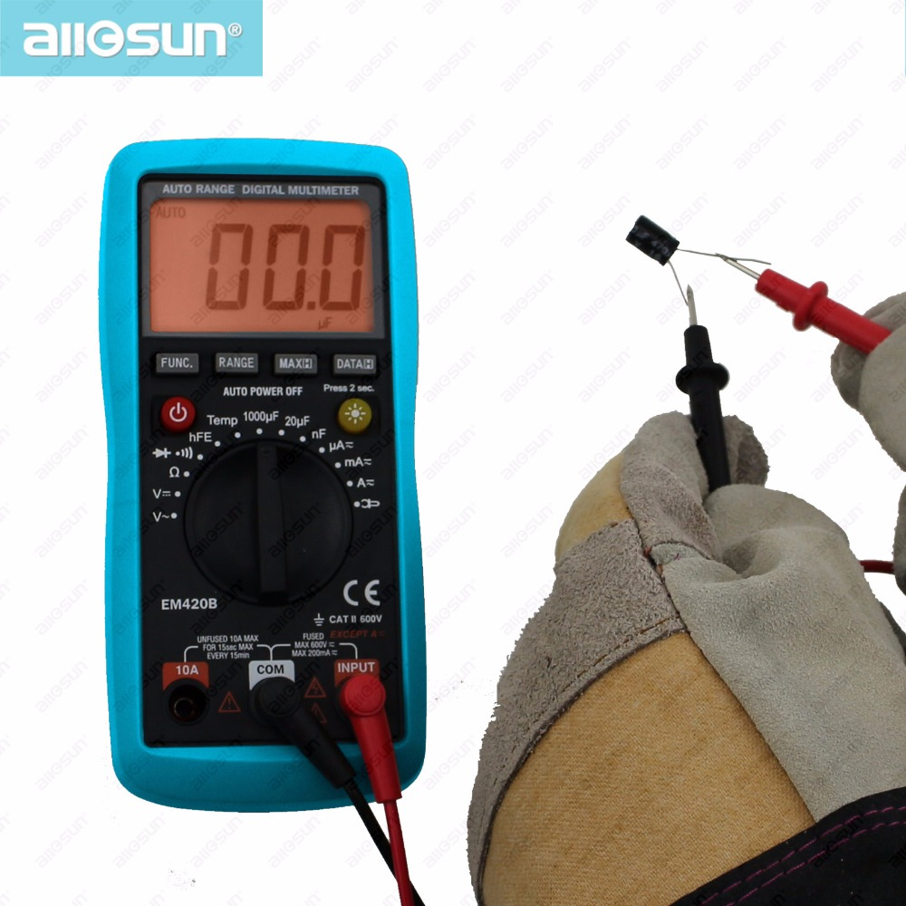 ALL SUN Digital multimeterdiodtransistor Batteri Tester AC / DC - Mätinstrument - Foto 3