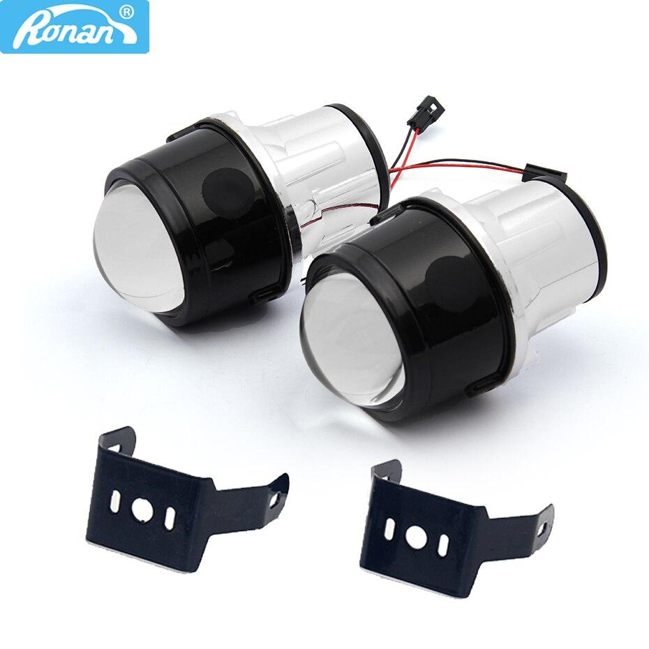 RONAN 2.5 Fog Light HID H8 H9 H11 Bi XenonProjector Lens Metal Bifocal Driving for Universal Car Styling Fog Light Waterproof