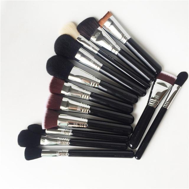 Si-SERIES FACE BRUSHES - Powder Blush Contour Highlighter Concealer Kabuki - High Quality Synthetic Makeup Brushes blender Tool 1