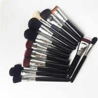 Brochas faciales serie Si-polvo rubor contorno resaltador corrector Kabuki-pinceles de maquillaje sintéticos herramienta licuadora de alta calidad