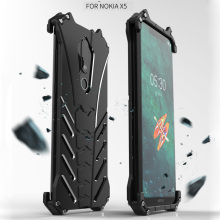 For Nokia X5 Case R-just Luxury Batman Aluminium Metal Cases 5.1 Plus Mobile Phone Cover Coque