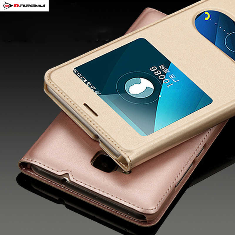 Case On Honor 5c Cases For Huawei Honor 5c Cover Flip Leather Gold Hard Plastic Luxury Black Protector View Window 5.2