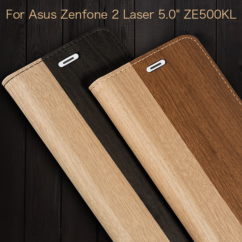 Leather Phone Case For Asus Zenfone 2 Laser 5.0 ZE500KL Business Case For Asus ZE500KL Flip Book Case Soft Silicone Back Cover image