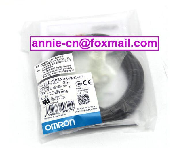 New and original E2E-S05N03-WC-C1  OMRON  Proximity switch, Proximity sensor 10-30VDC  2M balluff proximity switch sensor bes 516 383 eo c pu 05 new high quality one year warranty