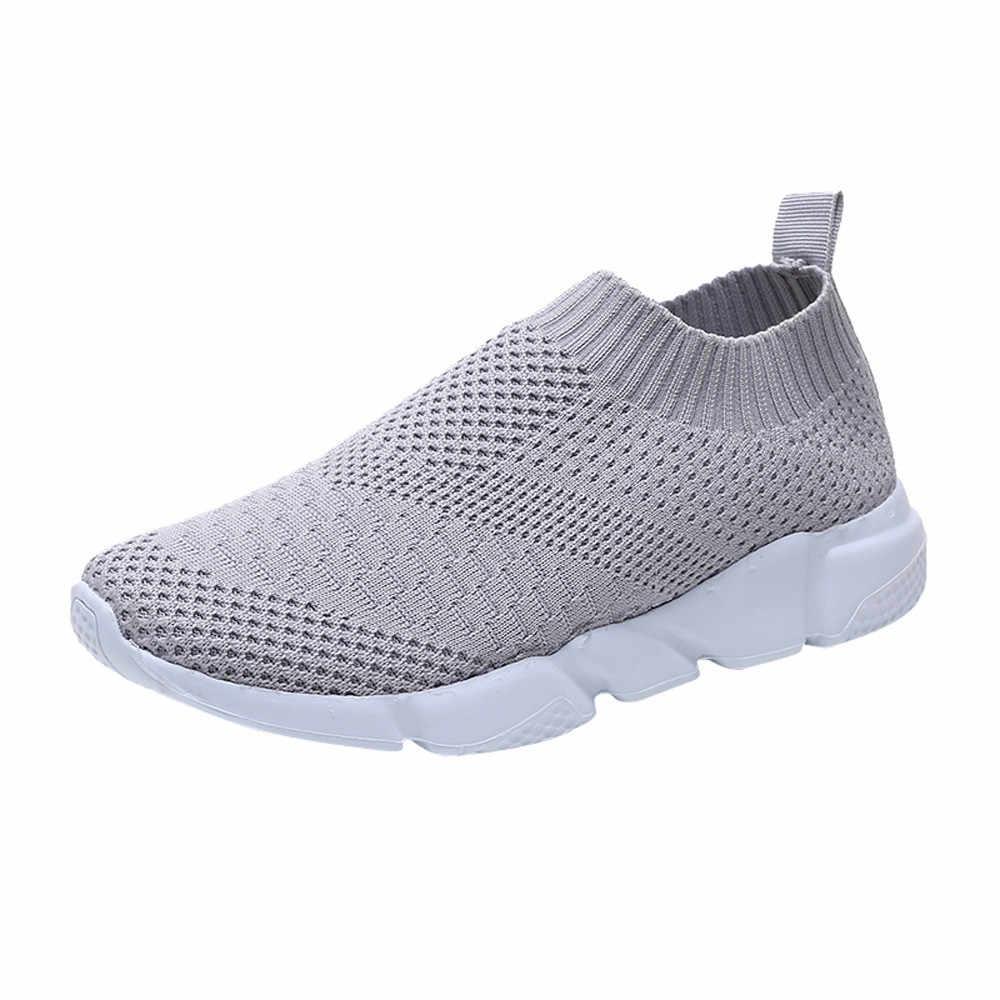 2019 รองเท้าสตรีรองเท้าสุภาพสตรีกลางแจ้งรองเท้าตาข่ายลื่นบนสบาย Soles รองเท้าวิ่งกีฬารองเท้า обувь женская кросовки # PY25