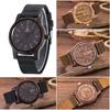 New Arrival Black Sandal Wood Mens Fashion Brand Bamboo Wooden Watches Leather Analog Quartz Wrist Watch