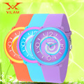 Children's Plastic WristWatches Students Sports Watches Kids Girls Boys Colourful quartz Wrist Watch Girl Gift candy Cute Watch
