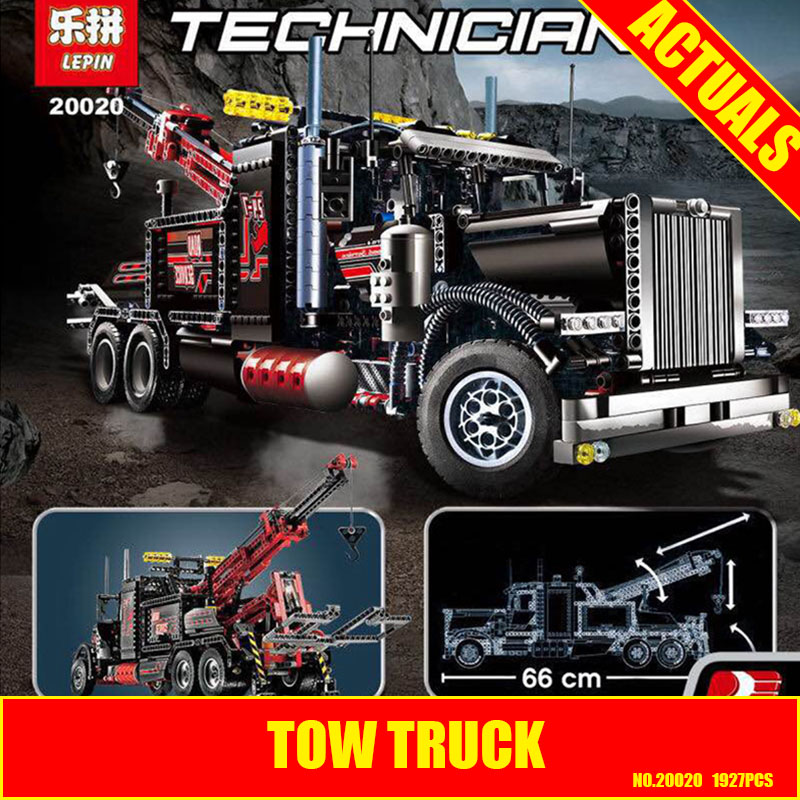 Technic Lepin 20020 Mechanical Ultimate Series The American Style Heavy Container Trucks Set 8285 Building Blcoks Bricks Toys