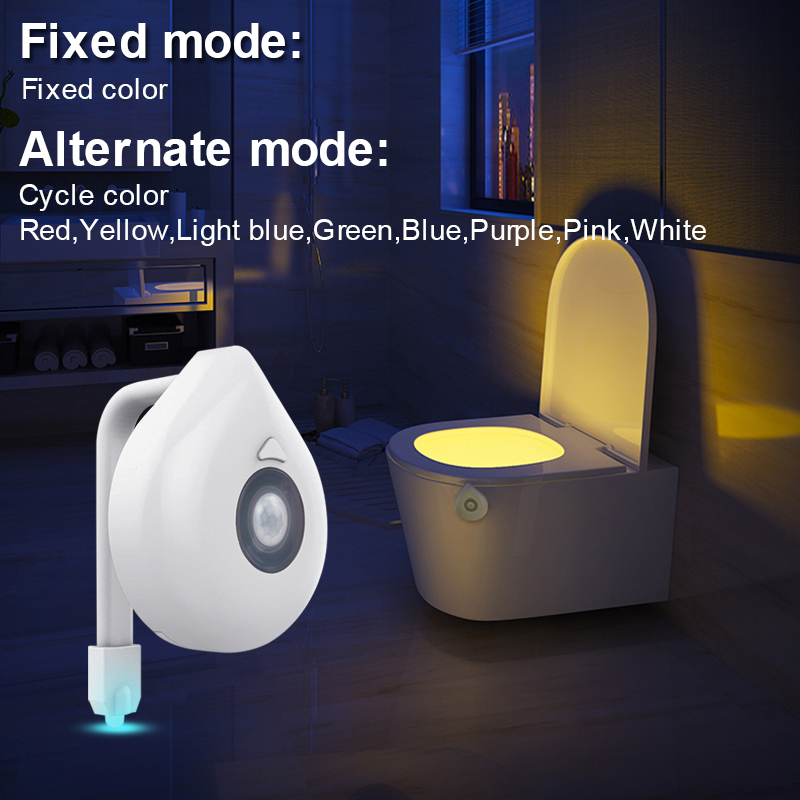 Image 4 - LED Toilet Seat Night Light Motion Sensor WC Light 8 Colors Changeable Lamp AAA Battery Powered Backlight for Toilet Bowl Child-in LED Night Lights from Lights & Lighting