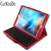 Magnetically Detachable Hidden Wireless Bluetooth Keyboard Folio PU Leather Case Smart Cover For Apple IPad Pro