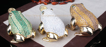 Metal Fortune Coin Money Toad/ Frog /Chan Chu – Feng Shui Chinese Charm of Prosperity Decoration Gift Frog Trinekt Jewelry Box