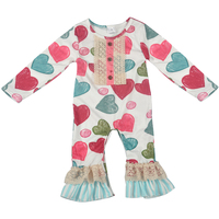 Valentine S Days Newborn Baby Girls Rompers Clothes Love Heart Cute Jumpsuit Rompers Toddler Clothes Baby