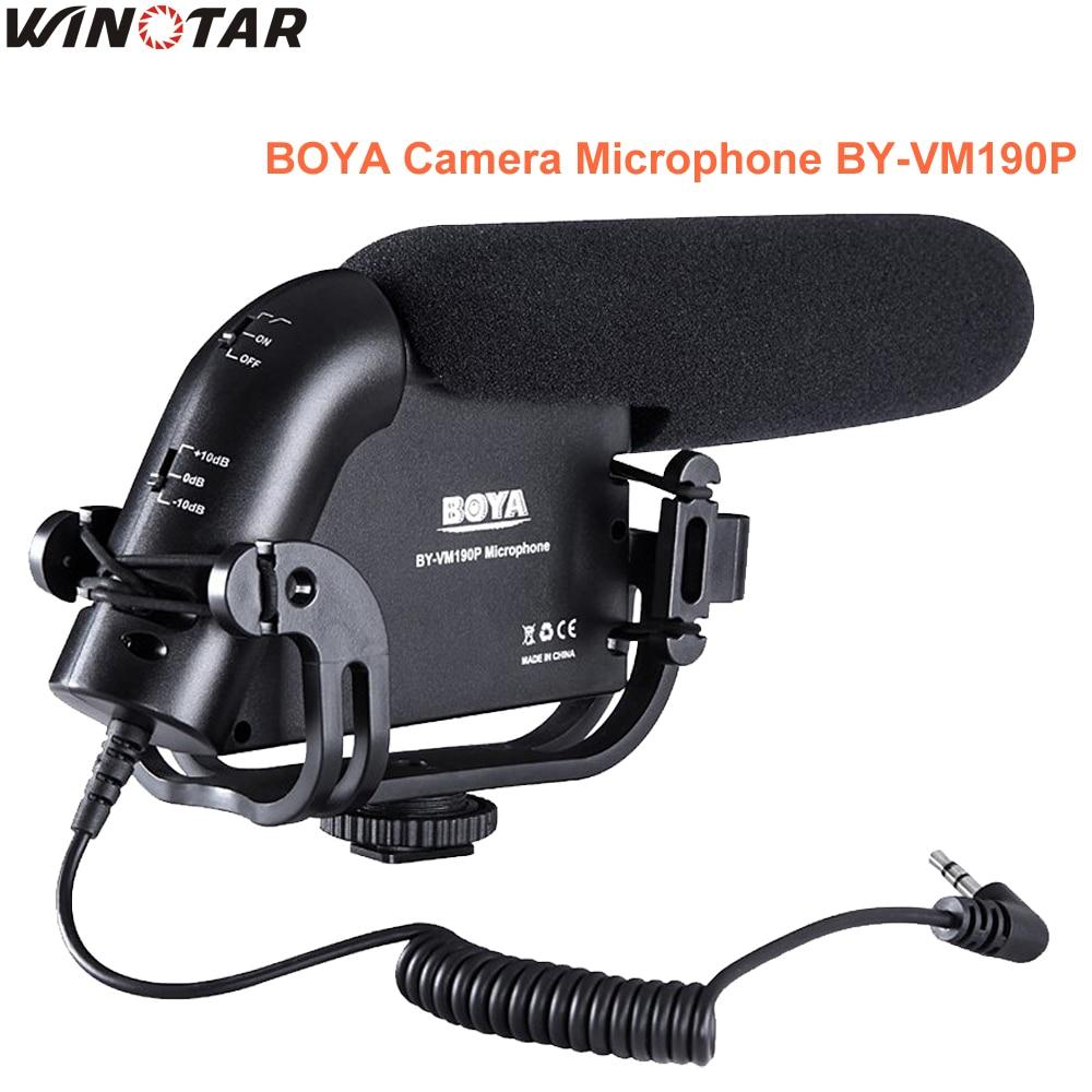 все цены на BOYA BY-VM190P 3.5mm MIC Camera Stereo Video Condenser Shortgun Microphone for Canon Nikon Pentax DSLR Video Camera Camcorder