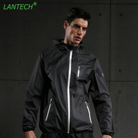 LANTECH Men Heat Hot Sweat Jacket Joggers Sports Sportswear Training Running Fitness Exercise Gym Run Jacket Clothes Long Sleeve