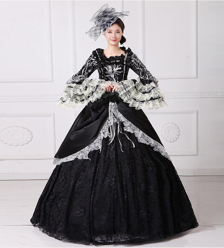 d035632001 Fancy Victorian Medieval Renaissance Costume Dress Antoinette Theater Ball  Gown with hat