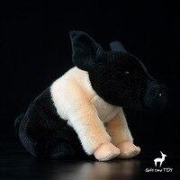 סימולציה באיכות גבוהה בעלי החיים PP הכותנה חלקיקים קטן שחור בובת חזיר בעלי חיים מלאכותיים מתנת חזיר בפלאש צעצוע של 30 ס