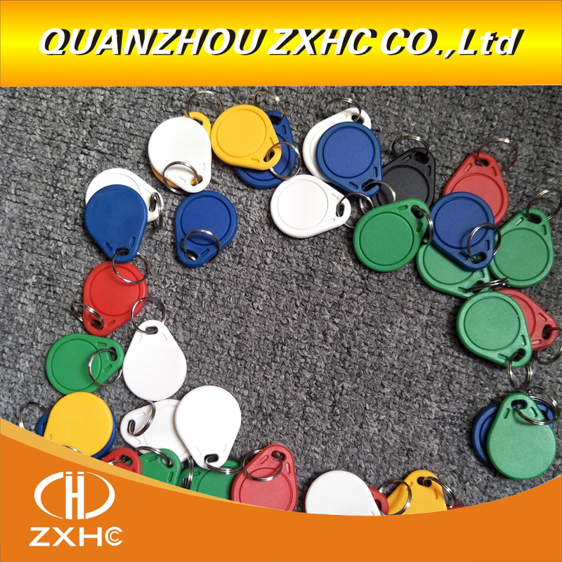(50PCS) 13.56 Mhz Block 0 Sector Rewritable RFID M1 S50 <font><b>UID</b></font> Changeable Card Tag Keychain Key Keyfob <font><b>ISO14443A</b></font> image