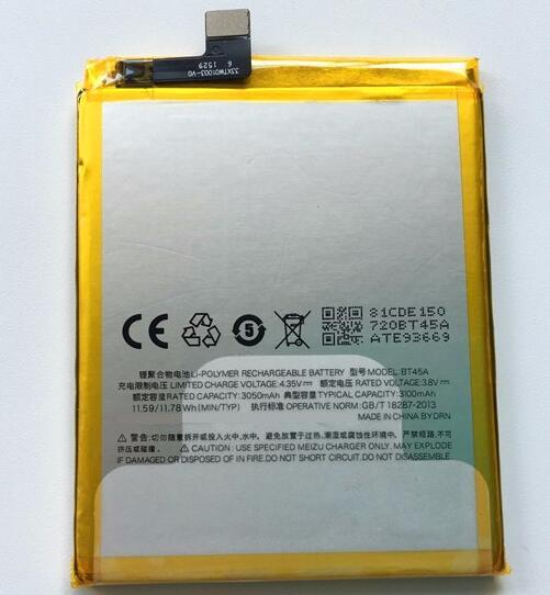 For Meizu Pro 5 battery High Quality Larger capacity BT45A 3050 Mah Backup battery Replacement For Meizu Pro 5 Free shipping