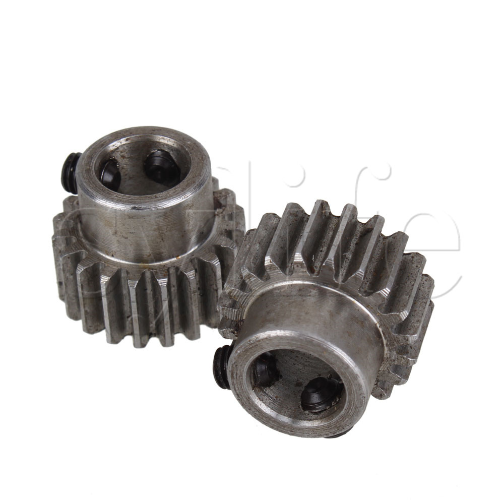 2 pcs 10mm Hole Diameter Motor Metal Gear Wheel Modulus 1 20 Teeth Steel Gear цены