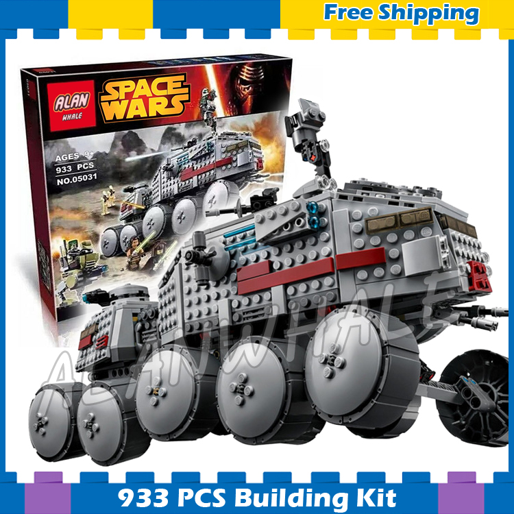 933pcs Space Wars New 05031 Clone Turbo Tank AT-RT Model Building Blocks Gifts Sets Children Compatible with Lego