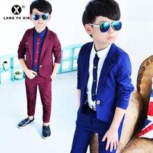 2pcs Blazer Pants Boys Slim Fit Occasion Wear Kids Formal Wedding Suit