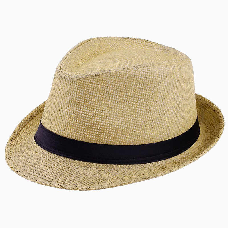 e371f07e919 ... Wholesale Women Men Straw Sun Hats Summer Panama Beach Hats For Kids  54cm Straw Hat Tea ...