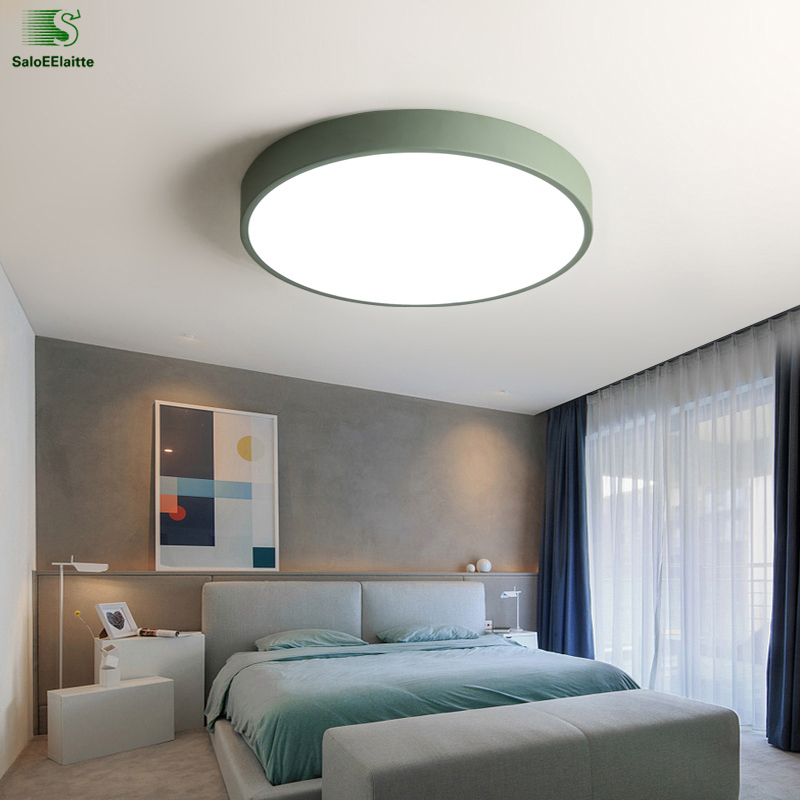 Nordic Simple Round Metal Led Ceiling Lights Acrylic Living Room Dimmable  Led Ceiling Lamp Bedroom Led Ceiling Light Fixtures In Ceiling Lights From  Lights ...
