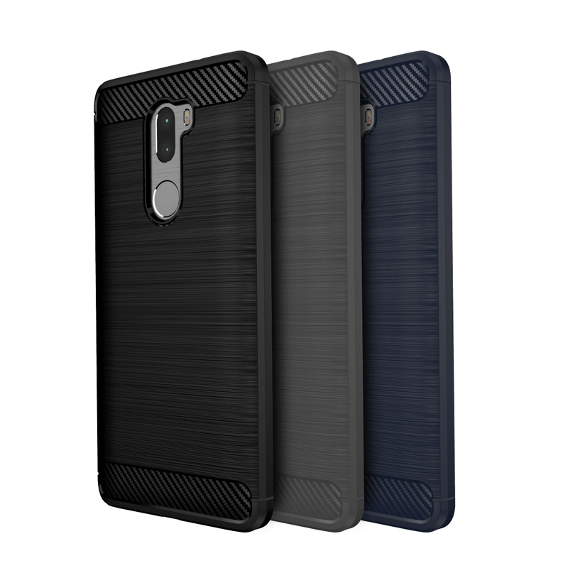 Case for Xiaomi 5S Plus Mobile Phone Bag Carbon Fibre Brushed TPU Smart Phone Cases for Xiomi Mi 5 s Plus Cover Shell