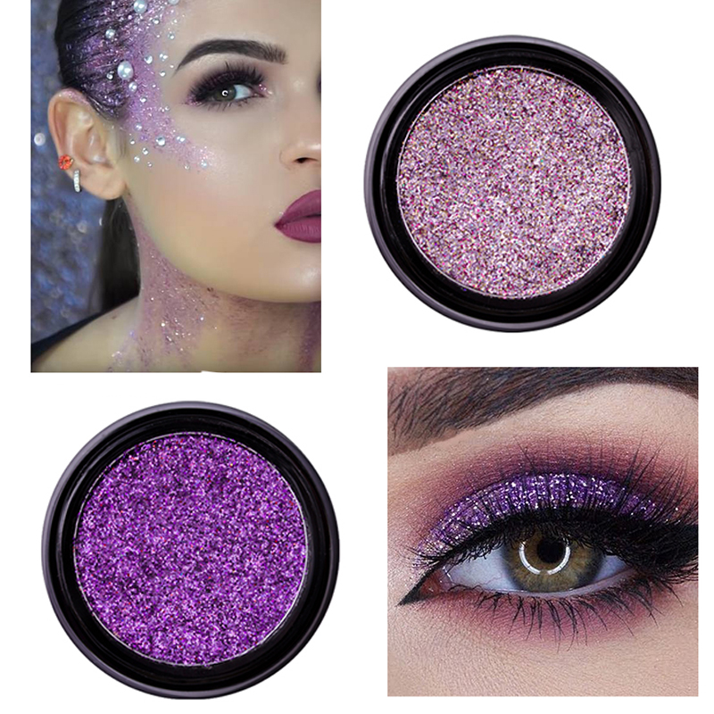 Beauty & Health 2019 New Shining Glitter Eyeshadow Sequins Cosmetics 14 Colorful Women Party Festival Face Eye Powder Makeup Eyes Shadow Blue Reliable Performance Eye Shadow