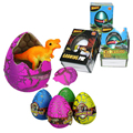 4 Unids con Caja de Huevos de Pascua de La Novedad Agua Mágica Huevo Creciente Dinosaurio Grietas Huevos Para Incubar Lindo Juguetes Para Niños 6.5 cm regalo de Halloween