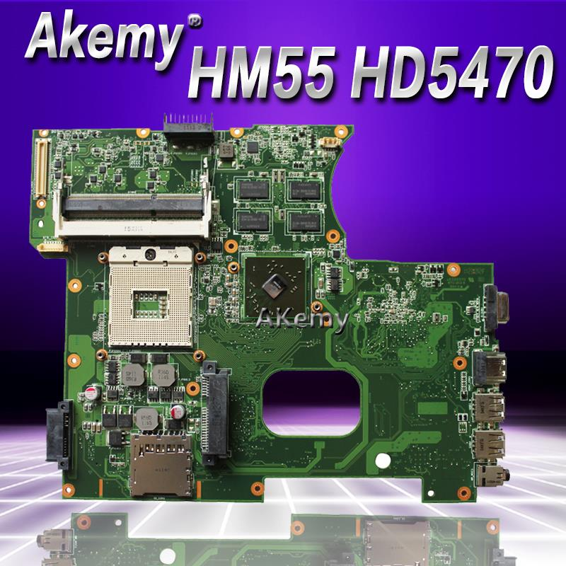 Akemy K42JR Laptop Motherboard For ASUS K42j K42JZ K42JB K42JY X42J K42JE Laptop Mainboa 100% Tested Intact REV: 2.0 HM55 HD5470