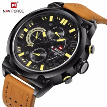 Watch Men NAVIFORCE Luxury Brand Waterproof Sport Wristwatches Men Fashion leather quartz watch relogio masculino zegarek men