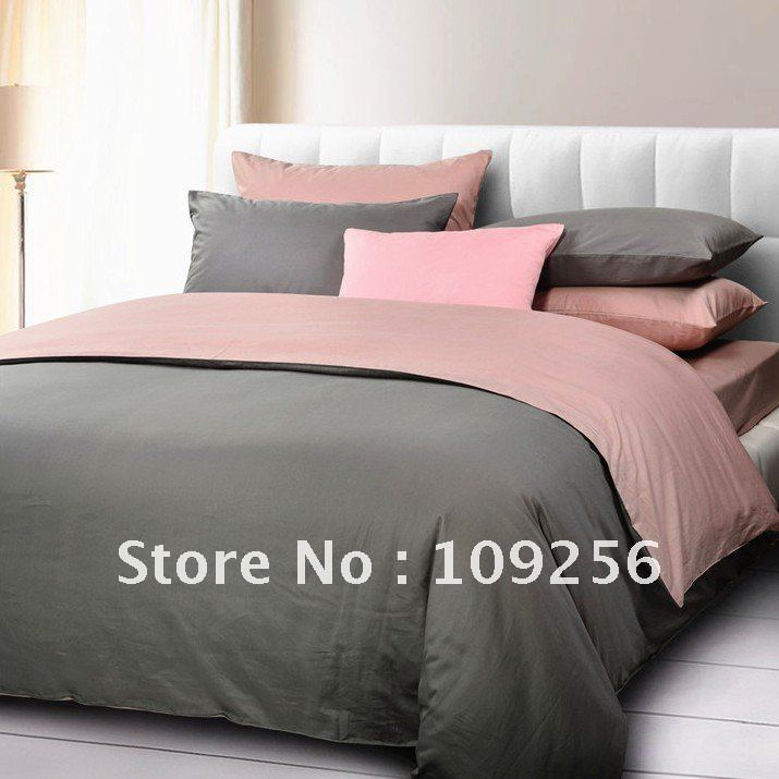 Elegant Luxury 3 Sizes For Select Pink Grey Bedding A