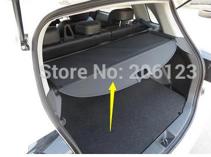 Black Rear Trunk Cargo Cover Security Shield For Mitsubishi ASX 2013 2014 / 2 model for choice! car rear trunk security shield cargo cover for mitsubishi asx 2013 2014 2015 2016 2017 high qualit black beige auto accessories