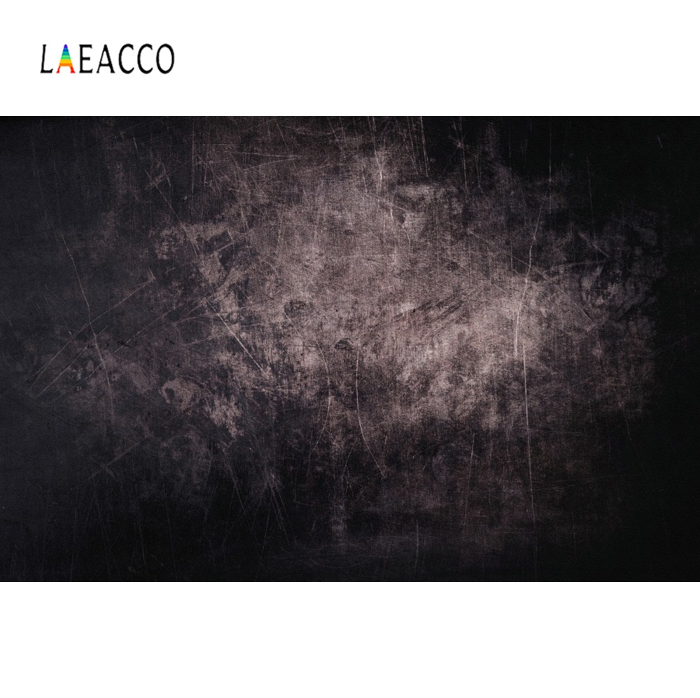Laeacco Dark Gradient Solid Color Wall Surface Texture Grunge Party Pattern Photo Backgrounds Photography Backdrops Photo Studio