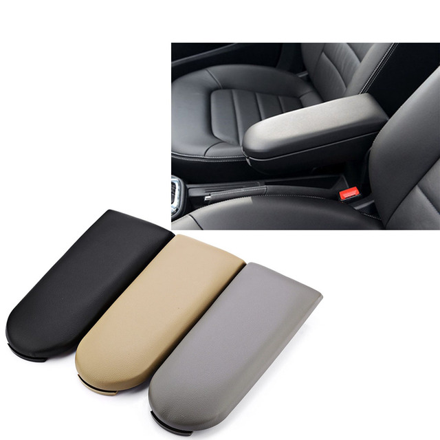 Leather Center Console Armrest Cap Fit For Vw Polo 6r Jetta Golf Mk4 Bora Beetle
