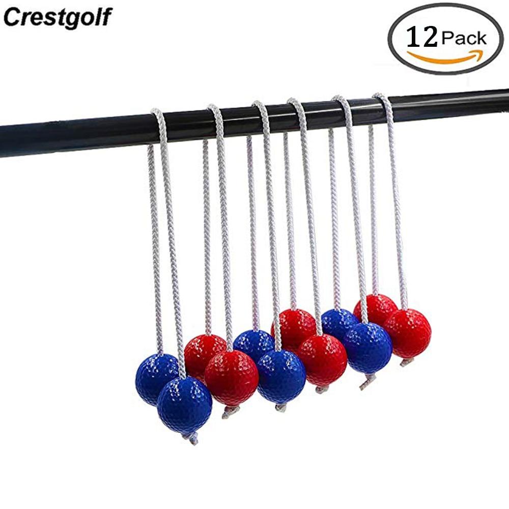 CRESTGOLF Ladder Golf Ball Toss Bolas Set 6 Pairs(12pcs Real Golf Balls)