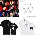 K pop KPOP BAEKHYUN CHANYEOL EXO K M Álbum EX'ACT T camisa de K-POP 2016 Clásico de La Moda de Ropa de Algodón de Manga Corta Camisetas DX324