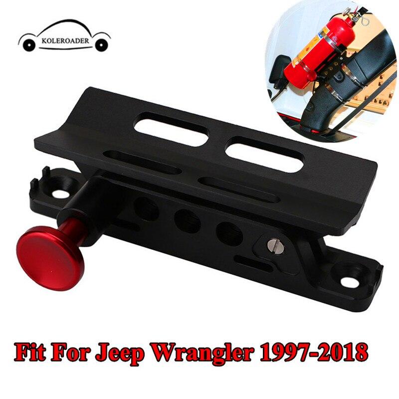 Pour Polaris RZR Ranger Extincteur Montage Titulaire avec Pinces Réglable Roll Bar Pour Jeep Wrangler CJ JK TJ