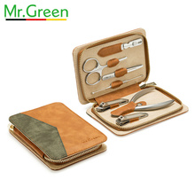 MR.GREEN Nail Art Tool Sets 7PCS/ Set Stainless Steel Universal Home Manicure Set Nail Clippers Cleaner Grooming Kit Nail Care недорого