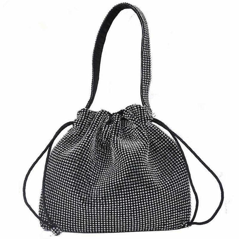 42448417046e Diamond Handbag Vintage Crystal Design Evening Bag Wedding Party ...