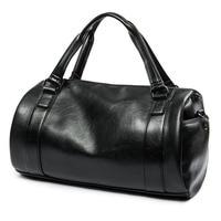 Women men big Travel bag hand Luggage casual Handbag pu leather Shoulder bag Couple Crossbody Totes business Bag duffel Package