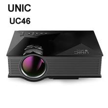 Оригинальный UNIC UC46 Wi-Fi Беспроводной зеркало Miracast 1200 люмен HD цифровой мультимедийный светодиодный мини-проектор proyector projetor Beamer