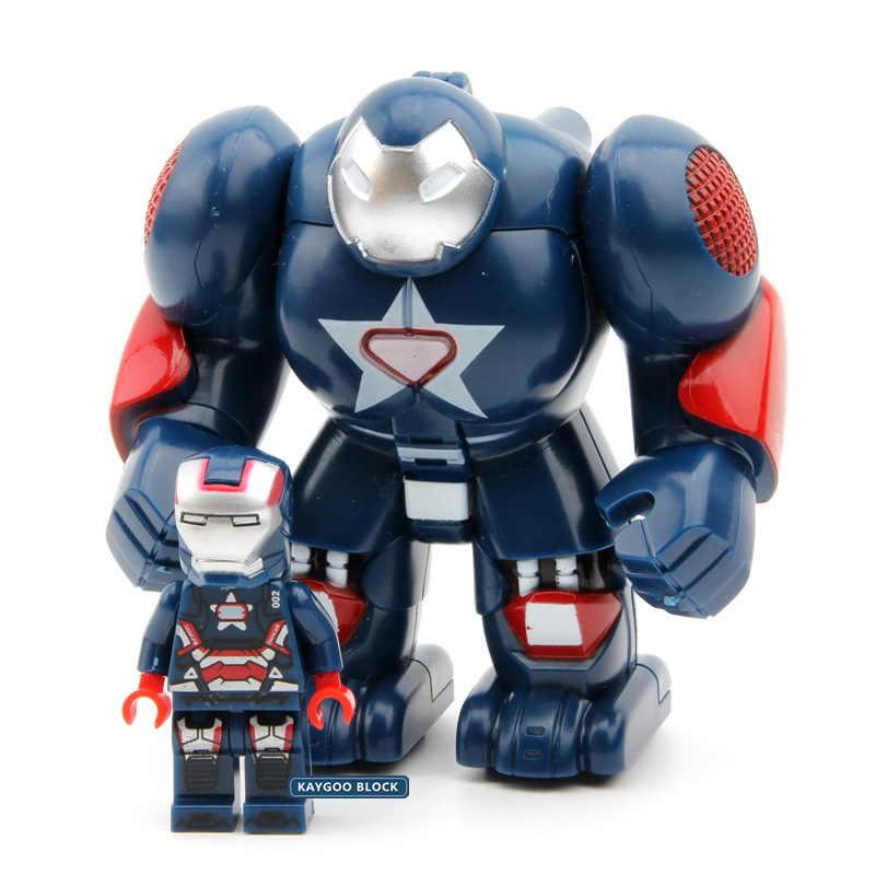 Халкбастер Железного человека одна распродажа Набор фигурок Железный человек Супер Герои Мстители Строительные блоки Модель Кирпичи наборы игрушки MR298 для детей