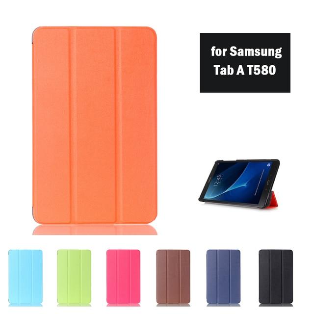Cover Case For Samsung Tab A 10.1 T580N T585C T585 T585NProtective Кожи Для 10.1 дюймов Tablet Pc + Пленка + Стилус + бесплатный Подарок