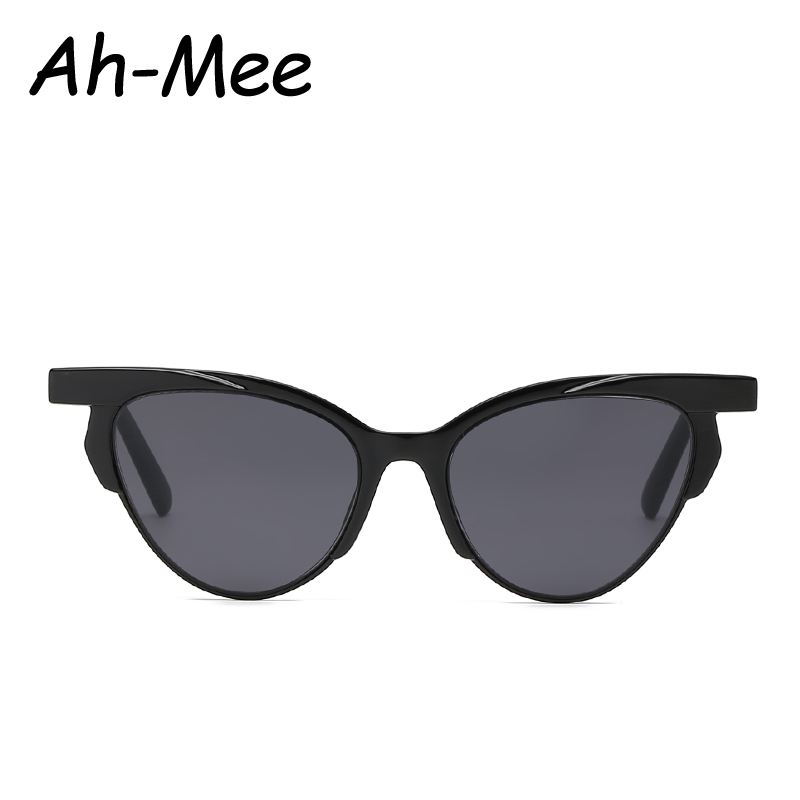 2019 Cat Eye Sunglasses Women Vintage Brand Designer Black Glasses Retro 90s Cateye Sun glasses Female Shades UV400