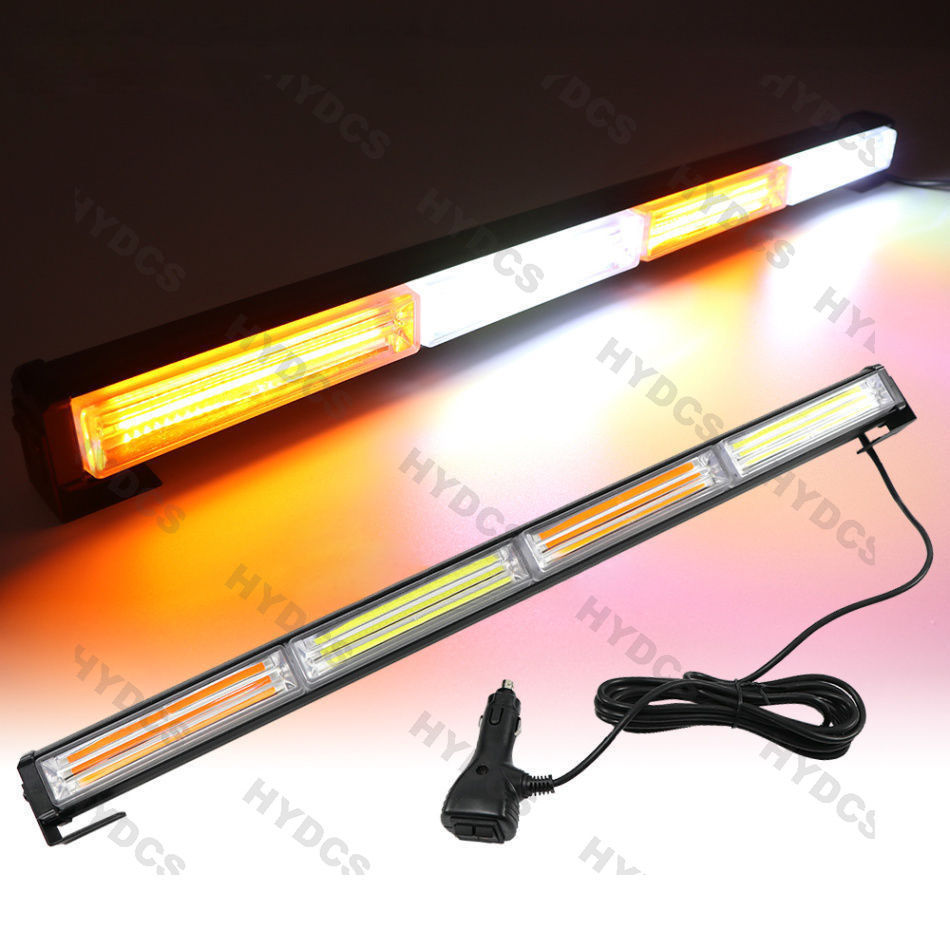 CYAN SOIL BAY 24 COB LED TRAFFIC LIGHT BAR EMERGENCY WARNING STROBE AMBER YELLOW WHITE 72W LAMP люстра накладная 06 2484 0333 24 gold amber and white crystal n light