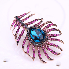 rhinestone leaf brooch metal pins and brooches for women pin badge vintage kpop accessories