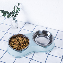 Double Dog Cat Bowls Premium Stainless Steel Pet Resin Station Food Water Feeder for Cats and Small Dogs Suppliers