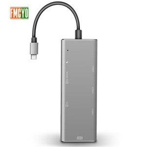 Image 2 - Dizüstü bilgisayar yerleştirme istasyonu All in One USB C HDMI kart okuyucu PD macbook adaptörü Samsung Galaxy S9/S8/ s8 + Tip C HUB